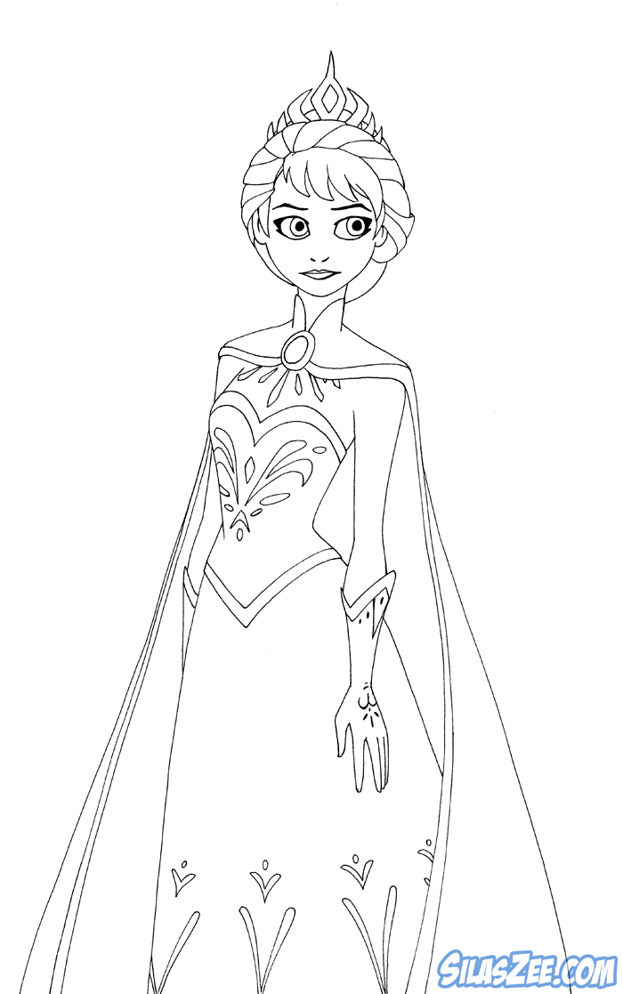 Coloring Pages For Elsa : Free coloring pages of elsa coronation
