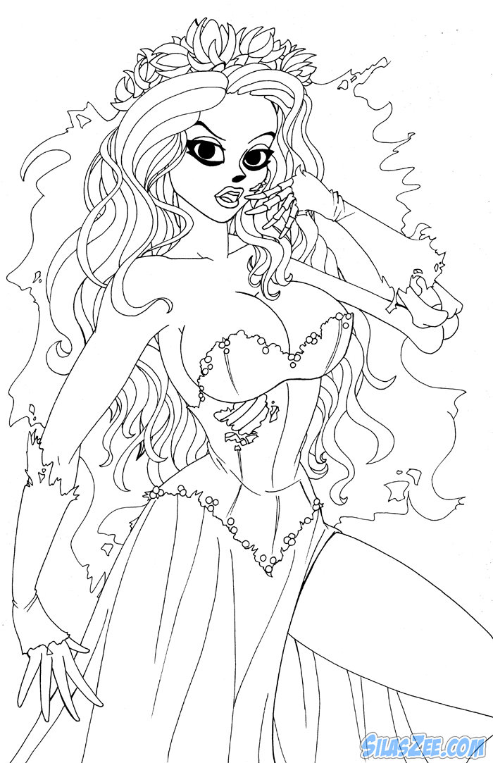 It is a picture of Clever corpse bride coloring pages