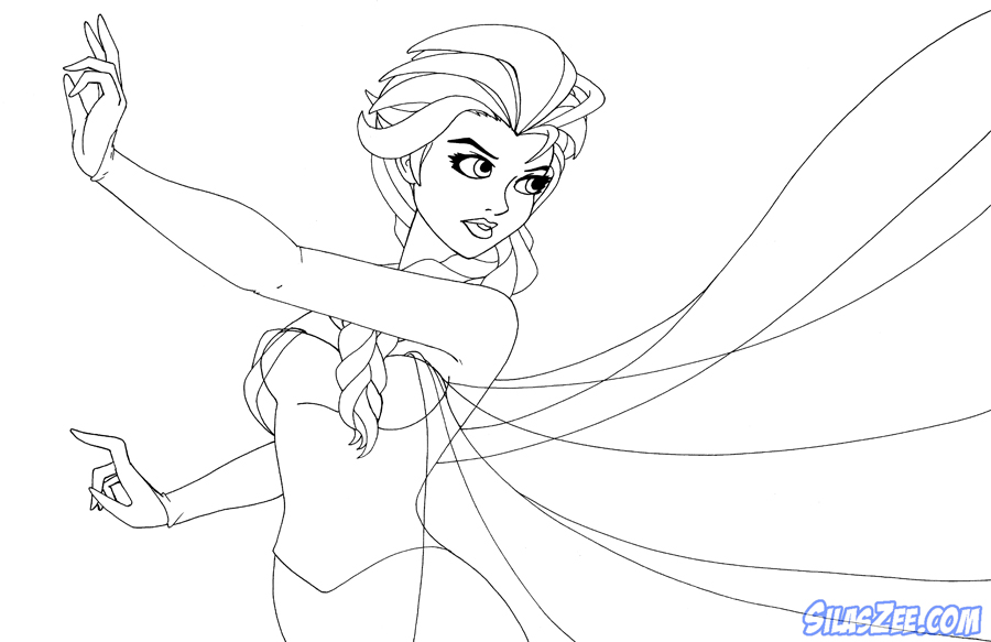 How To Draw Elsa Coloring