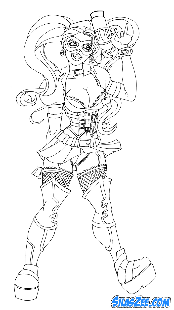 harley quinn coloring pages - photo#27
