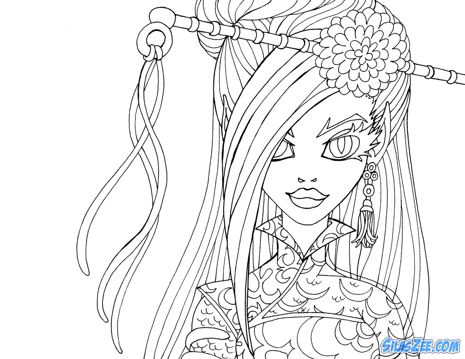 monster high coloring pages jinafire long gloom | Silas Zee: Jinafire Long